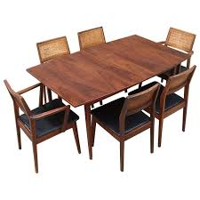 late 1950s classic american modernist solid walnut hibriten dining late 1950s classic american modernist solid walnut hibriten dining set at 1stdibs