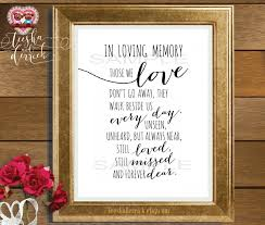 in loving memory items in loving memory instant printable wedding memorial