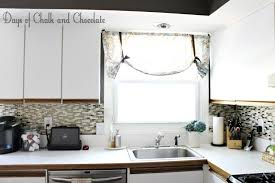 Stick On Backsplash For Kitchen by Easy Diy Self Adhesive Faux Tile Backsplash Days Of Chalk And