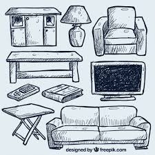 free living room furniture hand drawn living room furniture vector free download