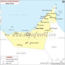 map of the uae united arab emirates cities map cities in united arab emirates