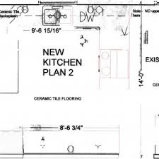 U Shaped Kitchen Floor Plans by Interior Kitchen Floor Plan Layouts And Dining Room Plan