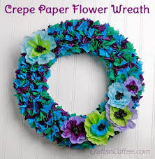 crepe paper flowers another pretty crepe paper flower wreath to diy crafts n coffee