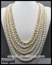 long pearls necklace images Wholesales fashion 2014 multi strand gold long chain pearl jpg