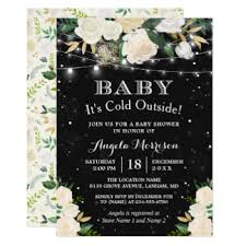 winter baby shower winter baby shower invitations announcements zazzle