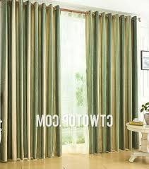 Green Striped Curtains Grey And Green Striped Curtains Are Fresh And Causal With Regard