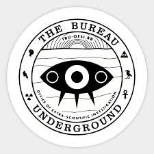 stickers bureau the bureau seal x files sticker teepublic