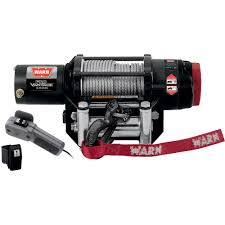 warn provantage 4500 series 12 volt dc powered electric atv winch