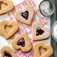 heart shaped crackers linzer heart cookies recipe taste of home