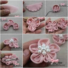 fabric flowers diy pretty fabric flower hair clip