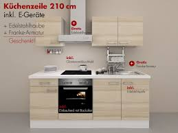 Billige K Henblock Küchenzeile 210 Cm Mit U0026 Ohne Geräte Kaufen Smartmoebel De