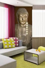 deco chambre bouddha peint intissé ou sticker bouddha