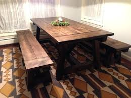 dining table farm style dining table with bench set room