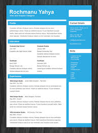 Html Resume Samples by One Page Resume Templates Modern U0026 Clean Personal Cv Template 50