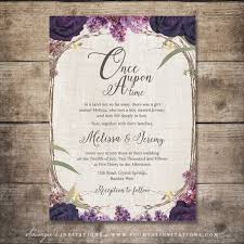 Purple Wedding Invitations Fairy Tale Wedding Invitations U2013 Gangcraft Net