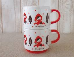 cool cups in the hood decole otogicco little red riding hood fairy tale cup wolf cups