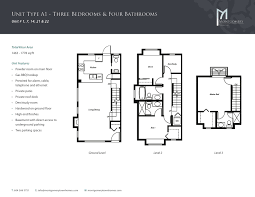Vancouver Floor Plans Montgomery Townhomes Price Features Floor Plans Vancouver