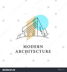 home design companies vector architect studio logo design isolated stock vector