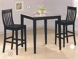 black counter height table set black bar height dining set luisreguero com