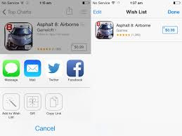 wish list app ios 7 features redesigned app store weather maps and calculator
