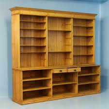 large antique pine bookcase wall unit denmark circa 1880 at 1stdibs