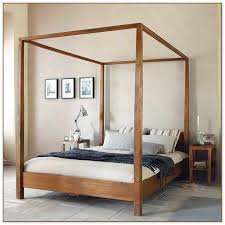 Wood Canopy Bed Frame Queen by Canopy Bed Frame Queen