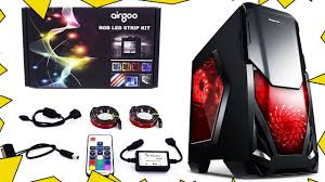 how to install rgb led light strip on pc case youtube