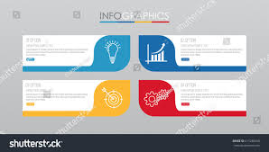modern infographic template business 4 steps stock vector