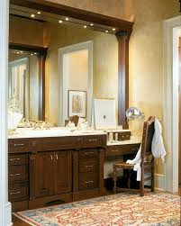 Bathroom Vanity With Seating Area by Makeup Table Bathroom Vanity Bathroom Transitional With White