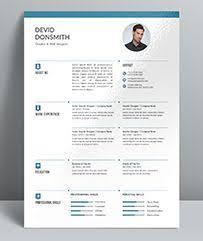 Easy To Use Resume Templates Descarga Plantilla Gratis Curriculum Vitae Creativo