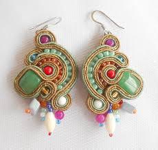 soutache earrings soutache earrings multicolor soutache jewellery
