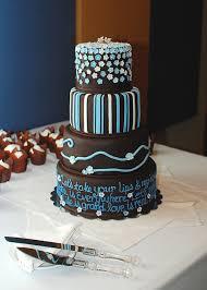 chocolate and light blue mixed design wedding cake cakecentral com