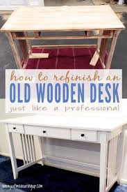 White Wood Desk Painting A Wooden Desk Like A Professional Easy Tutorial