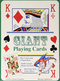 tobar giant playing cards amazon co uk toys u0026 games
