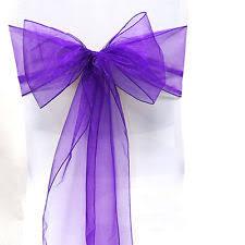 purple chair sashes purple chair sashes ebay