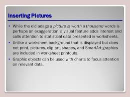 adding pictures and shapes to a worksheet ppt download