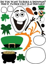 do you want to build a snowman st patrick u0027s day olaf edition