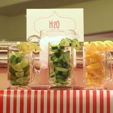 Drinks For Baby Shower - water drink bar great for a spa party or baby shower home spa