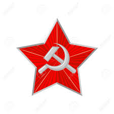 Sickle Russian Flag The Military Soviet Star With Hammer And Sickle Royalty Free