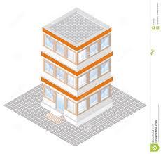 three story building three story building plan stock vector illustration of prints