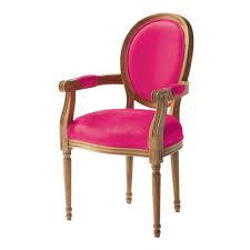 fauteuil louis xvi pas cher fauteuil fuchsia louis idées déco chambre emilie