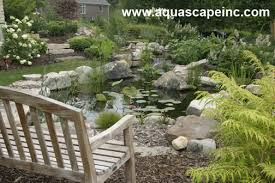 Aquascape Chicago A Boring Backyard Is Transformed With Refreshing Pond And
