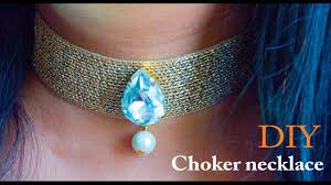 how to make a choker necklace diy beads art youtube