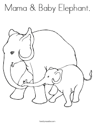 baby elephant coloring pages chuckbutt