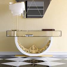 Glass Console Table Luxury Contemporary Glass Console Table Juliettes Interiors
