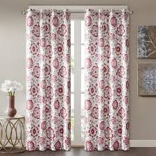 park rachel faux silk room darkening window curtain