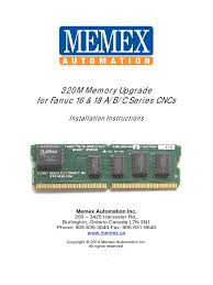 fanuc16mb memory update random access memory backup