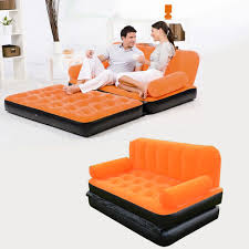 Inflatable Pull Out Sofa by 2 In 1 Inflatable Daybed Lounger Airbed Pull Out Sofa Couch U0026 Full