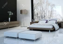 ultra modern bedroom ultramodern bedroom interior with double bed against panorama