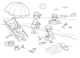 awesome beach coloring page 30 4368